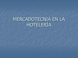 MERCADOTECNIA EN LA HOTELERÍA
