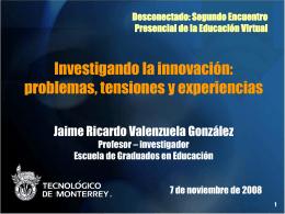 Investigación sobre innovación educativa