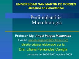 Peri-implantitis Microbiología