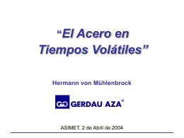 Mercado del Acero - ASIMET: Página Principal