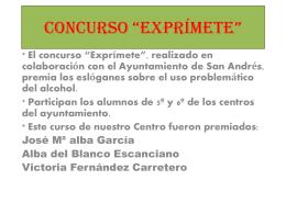 """CONCURSO """"EXPRÍMETE"""""""