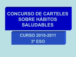 CONCURSO DE CARTELES SOBRE HÁBITOS SALUDABLES