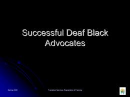 Successful Deaf Black People