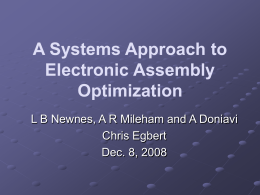 A systems approach to electronic assembly