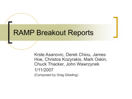 RAMP Breakout Reports