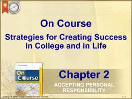 Strategies for Creating Success in College and in
