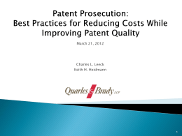 Patent Prosecution Helpline: Best Practices for