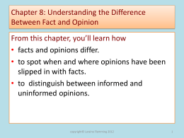 Chapter 8: Understanding the Difference Between