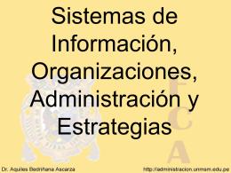 Sistemas de Información, Organizaciones,