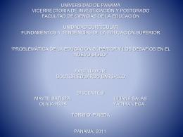 UNIVERSIDAD TECNOLÓGICA DE PANAMÁ FACULTAD DE