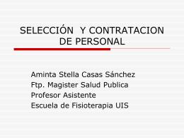SELECCIÓN Y CONTRATACION DE PERSONAL