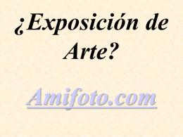 ¿Exposición de Arte?