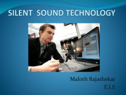 SILENT SPEECH TECHNOLOGY