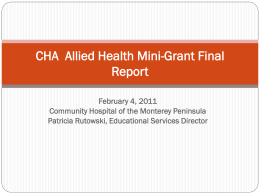 CHA Allied Health Mini