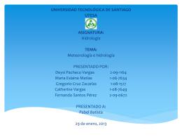 Meteorología e Hidrología