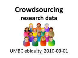 Crowdsourcing research data