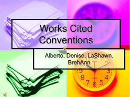Works Cited Conventions