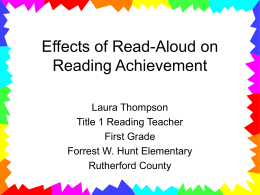 Effects of Read-Aloud on Reading Achievement
