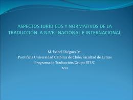 LA TRADUCCIÓN EN CHILE: ASPECTOS ACADÉMICOS,