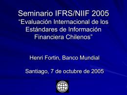 Evaluación Internacional de los Estándares de