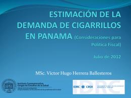 ESTIMACIÓN DE LA DEMANDA DE CIGARRILLOS EN PANAMA