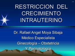 Restricción de crecimiento intrauterino Manejo