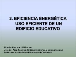 2. EFICIENCIA ENERGÉTICA. USO EFICIENTE DE UN