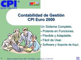 Contabilidad de Gestión CPI Euro 2000