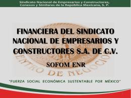 FINANCIERA DEL SINDICATO NACIONAL DE EMPRESARIOS Y