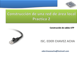 Construcción de una red de área local Practica 2