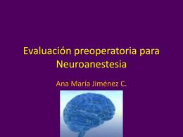 Evaluación preoperatoria para Neuroanestesia