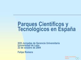 Los Parques Científicos y Tecnológicos en España