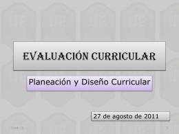 Evaluación Curricular