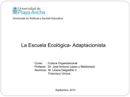 Cultura Organizacional Escuela