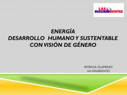 Energía con Desarrollo Sustentable