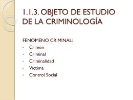 RELACIÓN DE LA CRIMINOLOGÍA