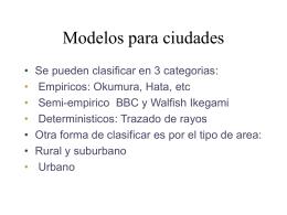 Modelos para ciudades - [Instituto de Ingeniería