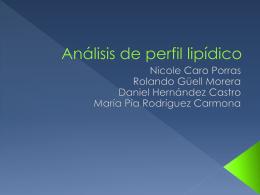 Análisis de perfil lipídico