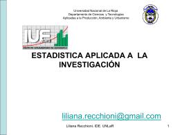 ANÁLISIS ESTADÍSTICO - Materiales de Estadística