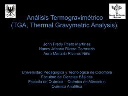 Análisis Termogravimétrico (TGA, Thermal