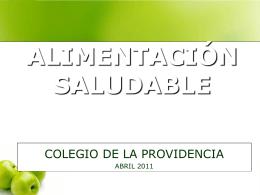 ALIMENTACIÓN SALUDABLE - Colegio de la Providencia