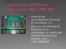 Versión de la ROM de arranque: MB31.008E.B02