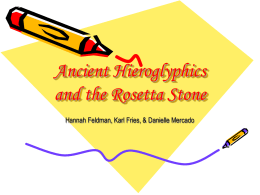 Ancient Hieroglyphics and the Rosetta Stone -