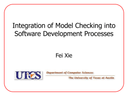 Integration of Model Checking into Software