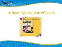 FUNDACIÒN DE LA REPUBLICA 31 DE AGOSTO DE 1848
