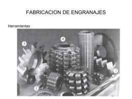FABRICACION DE ENGRANAJES