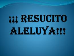 """RESUCITO ALELUYA!!! - Federación """"San José de"""