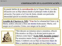 COOPERACIÓN EN LA SANTIFICACIÓN, 1