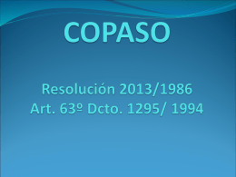 COPASO resolución 2013 de 1986