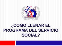 ¿Cómo llenar el programa del servicio social?